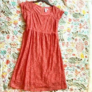 Motherhood Maternity Coral Dress